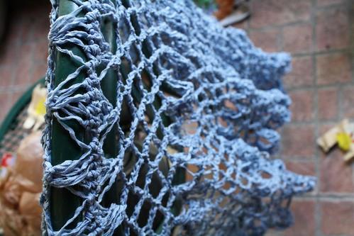 Hairpin lace shawl