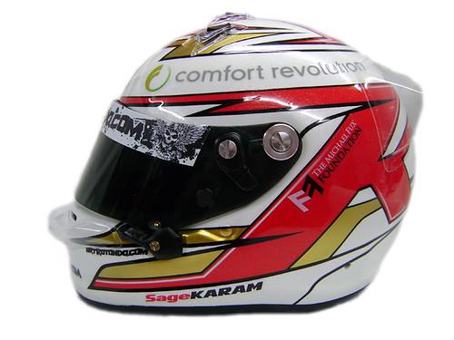 Star Mazda Series Driver, Sage Karan's helmet