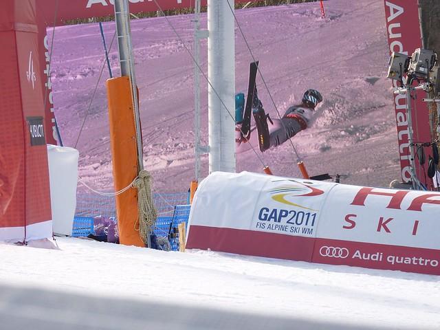 Sturz Susanne Riesch - Slalom der Damen - Ski-WM 2011