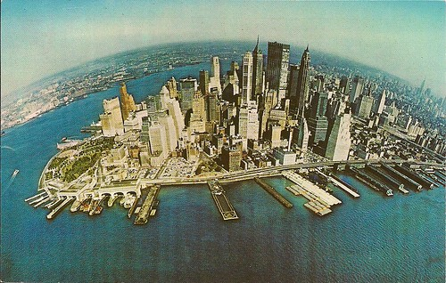 1960's NYC Skyline Postcard (Pan Am Airlines)