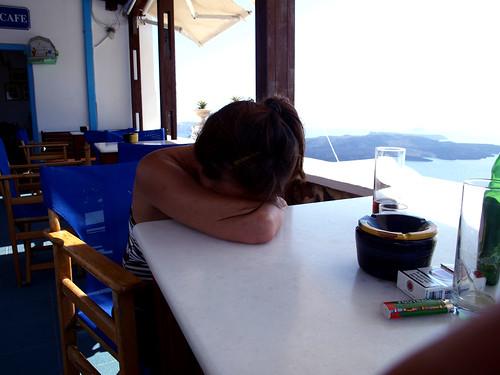 Descanso en Santorini