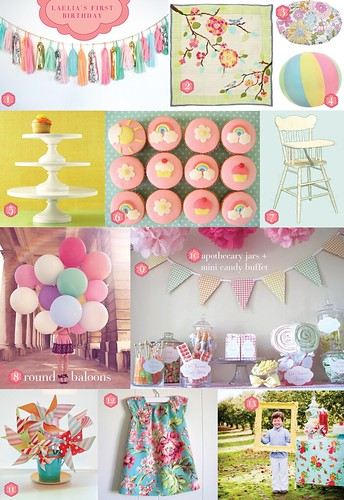 First Birthday Inspiration Board
