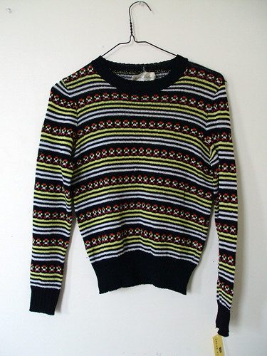 Cute Vintage Striped Sweater