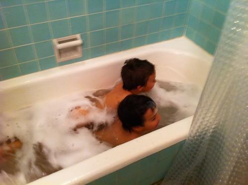 Swimming in the bathtub