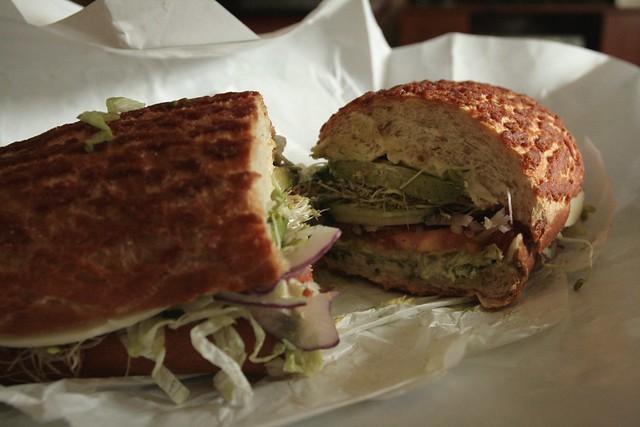 little lucca's veggie sandwich