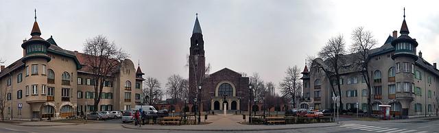 Mátyás tér - Jézus szíve templom / The heart of Jesus church (Győr)
