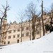 Castillo de Litomyšl en la nieve