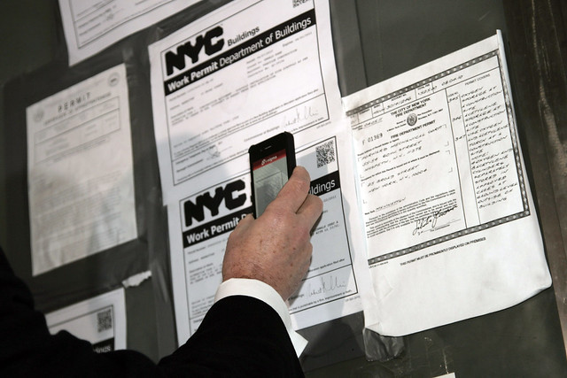 QR Codes on NYC building permits