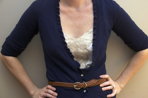 Cardigan and Lace Detail