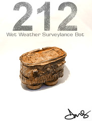 212 Wet Weather Surveylance Bot (back). (DMS One) Tags: sculpture robot 212 dms designertoy