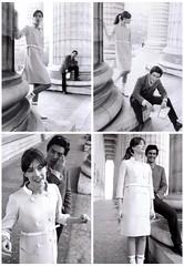 Françoise Hardy and Sami Frey (Famous Fashionistas (First)) Tags: vogue 1960s 1965 davidbailey vintagefashion françoisehardy frenchvogue andrécourrèges 1960sfashion samifray