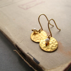 Asian - 14k gold hand hammered earwire