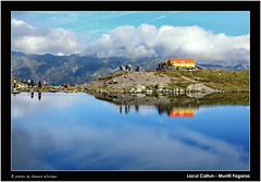 Caltun Lake and Refuge ( Eduard Wichner) Tags: wood autumn panorama lake mountains sports nature station weather forest trekking landscape lago photography woods scenery view mr outdoor hiking lac peak pic romania reflejo mountaineering reflexions reflexion munti vf refuge meteo carpati alpin carpathian munte fagaras balea reflexie transfagarasan padure tarcu statie altitudine varful reflexii traseu refugiu caltun poteca mirrorser leuropepittoresque mygearandme mygearandmepremium outstandingromanianphotographers