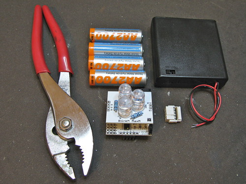 BlinkM Battery Pack: Step 1: Get all the parts together
