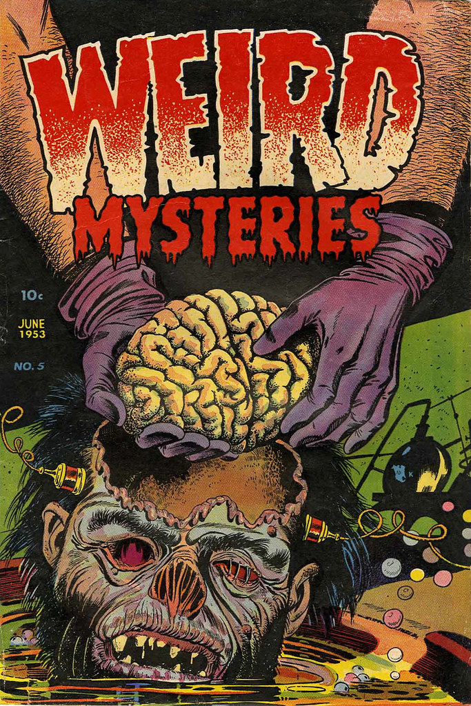 Weird Mysteries #5 Bernard Bailey Cover (Gillmor, 1953) jpg