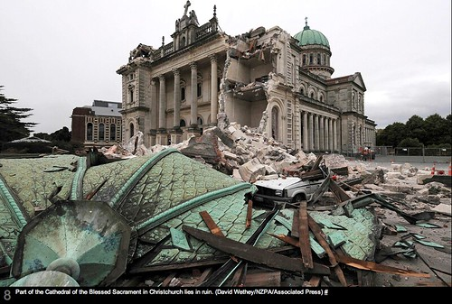 NZPA Photo of Quake Damage