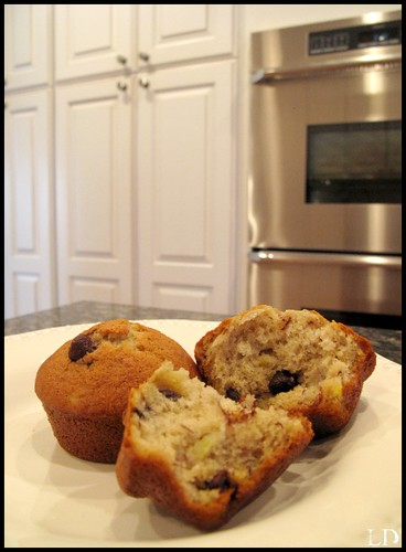 bananna chocolate chip muffins2