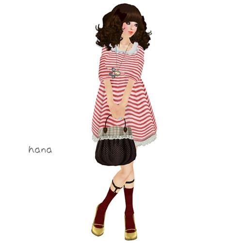 S@BBiA::Dress Lace Border  pink (LB)
