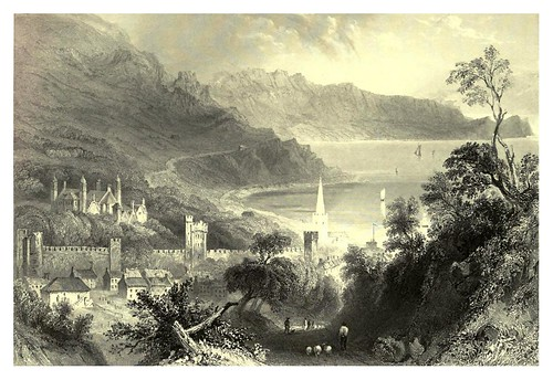 003-Castillo de Glenarm--The scenery and antiquities of Ireland -Vol I-1842-W. H. Bartlett