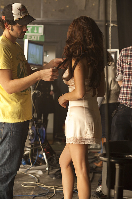 Kelly Brook Behind the scenes at the Lynx Fallen Angel shoot by lynxeffect