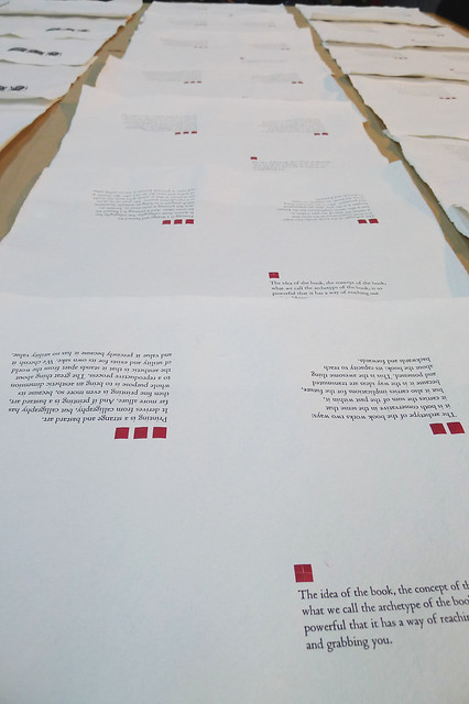 Letterpress Printed Press Sheets