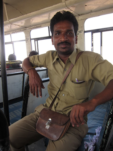 Srinivas, bus conductor