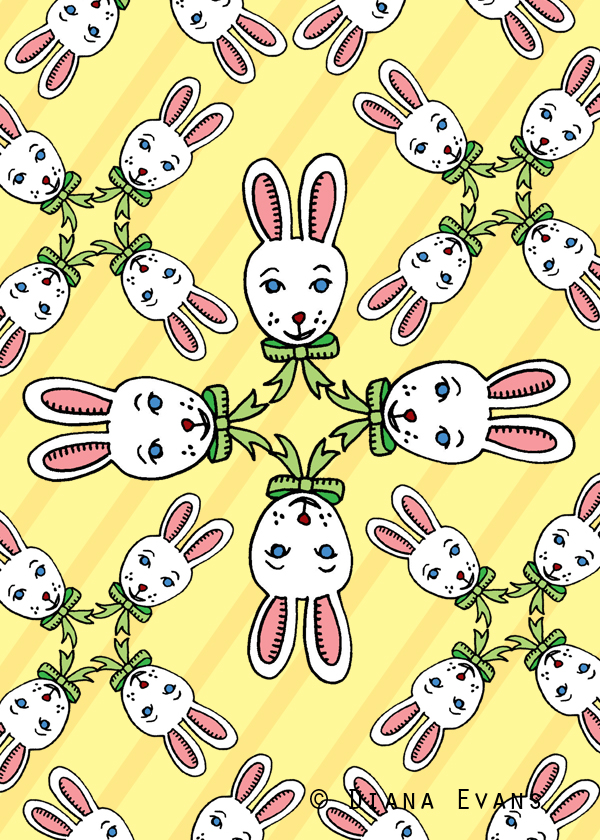 colour 5 x 7 easter bunny fabric3