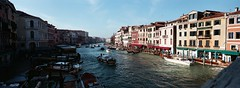 Rialto, Venice, Italy (ChihPing) Tags: travel blue venice italy panorama film iso800 fuji panoramic hasselblad fujifilm press venezia xpan expiredfilm  fujicolor  30mm
