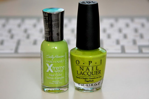 Sally Hansen Green with envy OPI Who the Shrek Are You