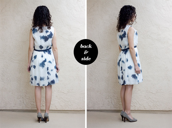 Ann-Taylor-LOFT-Petite-Drape-Dress-Back-Side