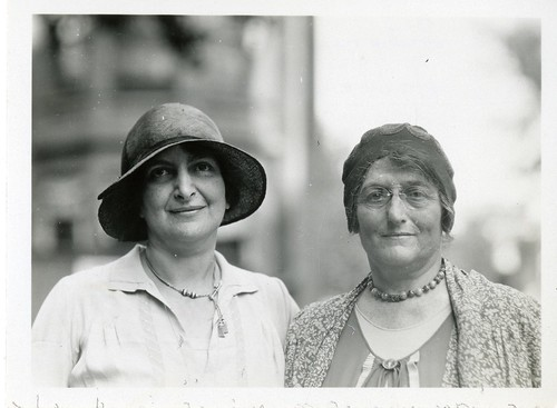 (left to right): Sidonie Matsner Gruenberg (1881-1974) and Bird Stein Gans (1868-1944), by Unidentif