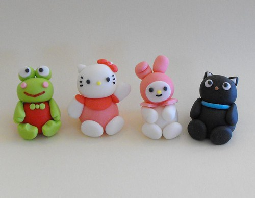 Hello Kitty Fondant Cake Toppers