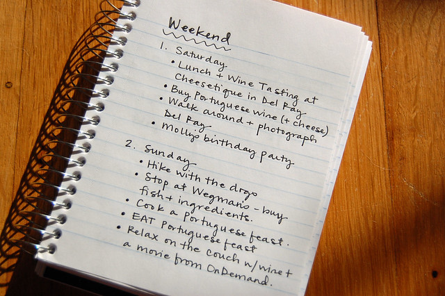 weekend to-do