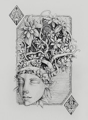 crown of diamonds (Tolagunestro) Tags: woman black diamonds grey card crown copa carta playingcard ouros crownofatree lucasdealcntara tolagunestro
