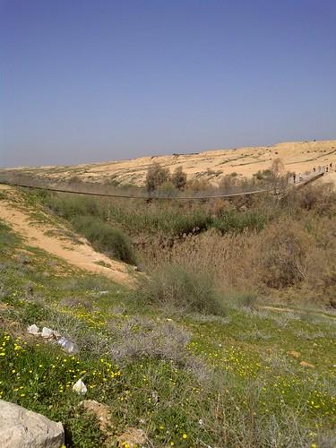 גשר החבלים בנחל הבשור