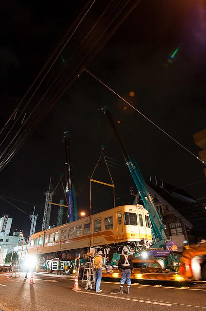 伊予鉄道700系 モハ722 廃車搬出