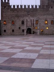 marostica: piazza castello/ piazza degli scacchi