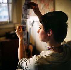 Megan McIsaac (Work.place) Tags: portrait art tlr film home window oregon analog mediumformat project portland design paint fuji photographer drawing craft 120film artists workspace workplace fujifilm process studios designers twinlensreflex mamiyac330 yashicad environmentalportrait posessions meganmcisaac wwwworkplacepdxcom