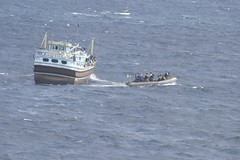USS Momsen Sailors respond to a medical emergency aboard Iranian fishing vessel. (Official U.S. Navy Imagery) Tags: navy sailor usnavy arabiansea medicalemergency ussmomsenddg92 usnavyphoto ctf151 guidedmissiledestroyerussmomsenddg92 iranianfishingvessel