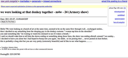 donkey at the armory
