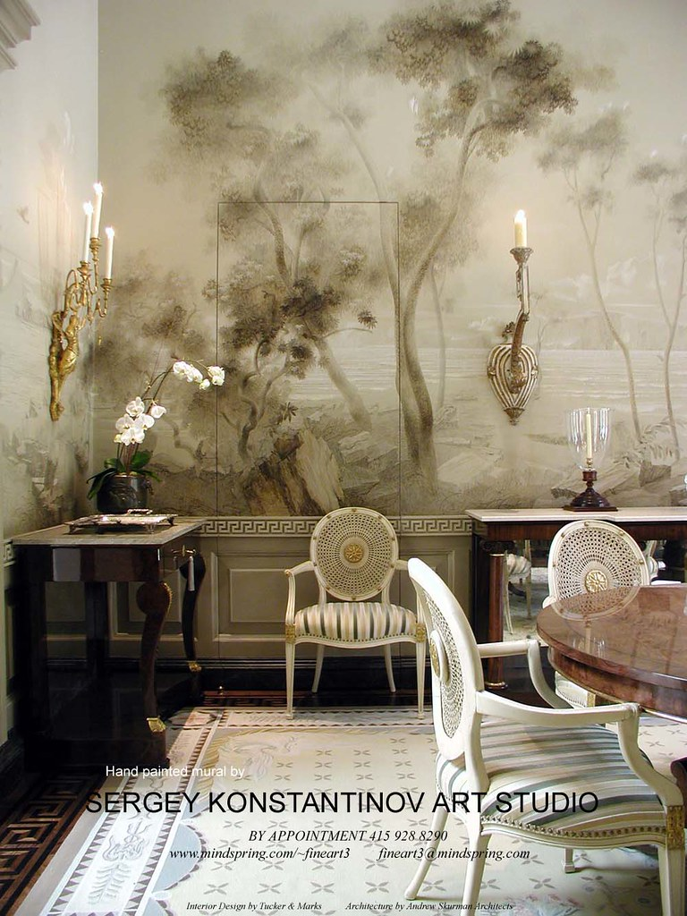 Classical mural room San Francisco.Art Studio Sergey Konstantinov