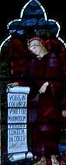 Angel with scroll (IanAWood) Tags: london raw stainedglass williammorris putney allsaintschurch churchwindows churchofengland morrisco d3x siredwardburnejones walkingwithmynikon nikkorpce24f35 surreychurches