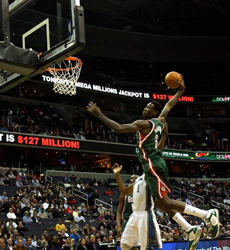 washington wizards, milwaukee bucks, truth about it, adam mcginnis, larry sanders, dunk