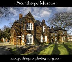 Scunthorpe Museum (Paul Simpson Photography) Tags: windows building grass clouds spring shadows signpost hdr scunthorpe springtime musem publicbuildings longshadows flowerbeds humberside northlincolnshire northlincs march2011 bestcapturesaoi paulsimpsonphotography dblringexcellence northlincolnshiremuseum scunthorpephotos photosofscunthorpe