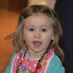 """Nice new camera Grandpa"" (Images by John 'K') Tags: beads granddaughter ashlyn necklaces johnk d7000 ashlynelizabethmary johnkrzesinski randomok"