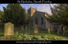 St Nicholas, South Ferriby (Paul Simpson Photography) Tags: flowers trees church graveyard sunshine headstone religion graves lincolnshire churchwindows humberside northlincolnshire southferriby churchphotos northlincs photosofchurches paulsimpsonphotography