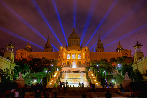 Magic Fountain of Montjuïc - HDR