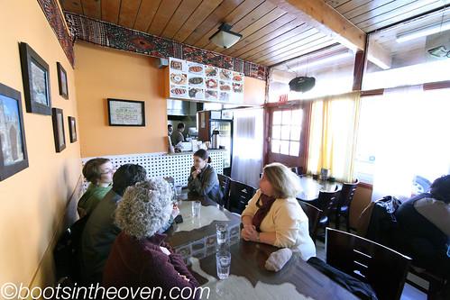 Inside the teeny restaurant