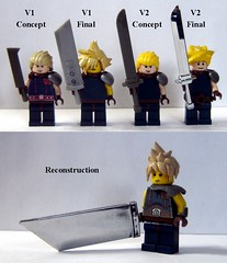 Cloud Strife - Reconstructed (ChocoBricks Customs) Tags: lego custom finalfantasy ff7 ffvii cloudstrife amadgunslinger