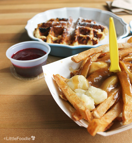 Poutine and waffle